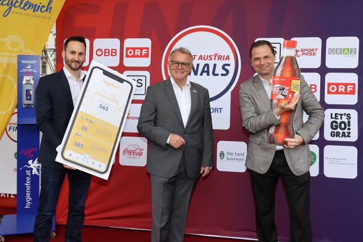 RecycleMich-Initiative startet Pilotprojekt bei den Sport Austria Finals in Graz
